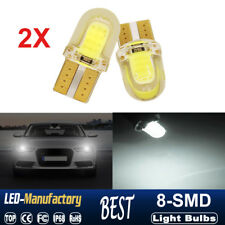 2X T10 194 168 W5W 6500K COB 8-SMD SILICA White Super Bright LED Light Bulb 12V