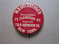 M B Goldberger International Hotel Whitehead Hoag Pin Badge Hat Tie Lapel Button