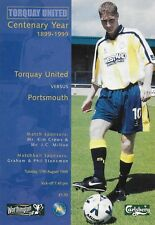 Football Programme>TORQUAY UNITED v PORTSMOUTH Aug 1999 FLC