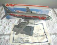 Western Airlines Boeing 737-300 Airplane Desk Top Model by Flight Miniatures 6.5