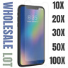 Wholesale Tempered Glass Screen Protector Lot iPhone 11 Pro Xs Max XR 8 7 6 Plus