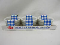 New Tala Mini Porcelain Ramekins Ramekin Dishes Butter Pats Set 3 White 10A20053
