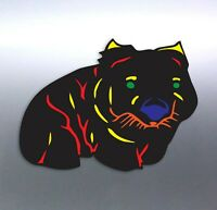 Aboriginal Wombat Sticker art artist Vinyl cut Car Aussie made & design cute AUS