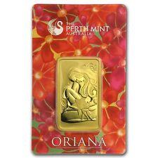 1 oz Gold Perth Mint Oriana Design Bar - (In Assay) - SKU #94763
