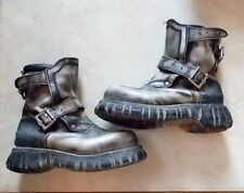 VINTAGE BUNKER ATOMIC NO OMBRE BOOTS STRAPS AND BUCKLES SIZE 40 MADE IN SPAIN