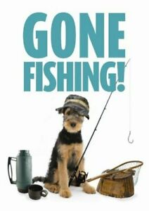 GONE FISHING - NOVELTY GATE / DOOR SIGN - SIGNS