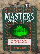 1991 MASTERS GOLF AUGUSTA NATIONAL BADGE TICKET IAN WOOSNAM WINS PGA