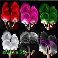 1 pair(left & right) 100% silk fabric belly dance waving fan veil 1.5m 1.8m long