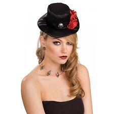 Gothic Top Hat Mini Size Adult Steampunk Vampire Halloween Costume Fancy Dress