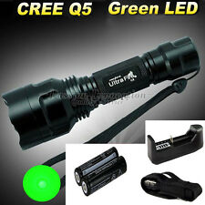 CREE Q5 C8 LED Flashlight Torch + 2x18650 Battery+ 26650 16340 Charger