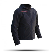 NITRO N-46 DOWNTOWN WINDPROOF MOTORCYCLE BLACK SOFT SHELL JACKET WITH ARMOUR SIZ