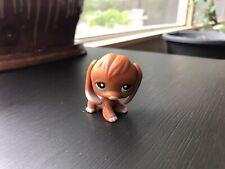 Littlest Pet Shop 233 Tan Caramel Brown Beagle Dog Blue Eyes