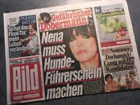 Bildzeitung BILD 12.06.2015 * Geschenk Geburtstag * Mario Götze * Nena