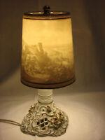Lithophanie - Lampe von Schierholz / Plaue  PMP     Motiv Heidelberg und  Schloß