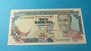 Bank of Zambia 10 KWACHA Bank Note - UNC