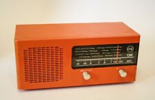 ♥ RADIO CGE TRANSISTOR ARANCIO VINTAGE SPACE AGE OM ANNI 60 70