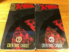 X-Men Creaters Choice 1 & 2 VHS VCR Video Tape Marvel Comics Used