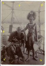 14x9cm Orig Foto 1905 Deutsche Kolonie Samoa König Mataafa mit Tochter photo