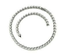 Edelstahl Collier Halskette Kette Armband Set Silber Poliert Matt Silberkette