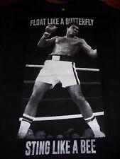 Muhammad Ali Float Like A Butterfly T Shirt Licensed Size Medium Black