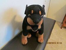"""ROTTWEILER / DOBERMAN""      Plush Stuffed DOG MIX"