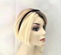Fab Hot Pink Leather Look Headband with Gold Tone Studs Goth Punk 1 cm wide