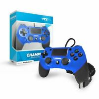 TTX Tech PS4 CHAMPION USB Wired Controller for Playstation 4 - Blue