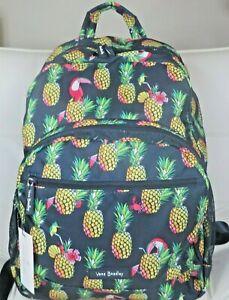 Vera Bradley Lighten Up Essential Backpack Toucan Party Navy Pineapple Tropical