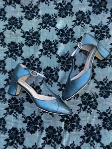 Repetto Giuliet Brio Heels Size 35 T-Strap Chunky Heel Shoe Pump
