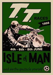 TT RACE POSTER PRINT ISLE OF MAN race 1956 print