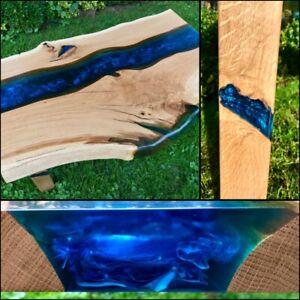 Epoxidharz Massivholztisch Eiche, River Table, Epoxy Table