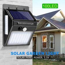 100LED Lampe Solaire avec Détecteur de Mouvement Extérieur Projecteur Jardin FR