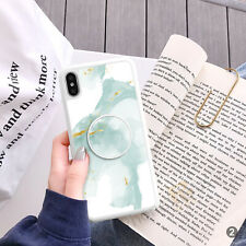 Marble Phone Case Cover And Pop Up Finger Holder For iPhone Samsung ETC 106-2