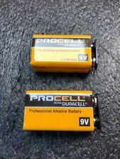 2 NEW Fresh 9V Duracell Procell 9 Volt Alkaline Battery PC1604 NEW 9-Volt 2023