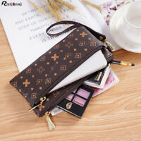 Women Clutch Leather Wallet Handbag Card Holder Zip Long Purse Phone Bag Case