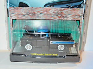 M2 MACHINES AUTO-TRUCKS BLACK / BLUE 1958 CHEVY APACHE CAMEO