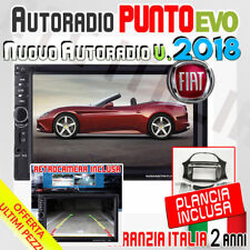 "AUTORADIO Touch+Retrocamera 2 Din 7"" FIAT PUNTO EVO > 2009 MP3 SD BLUETOOTH AUX"