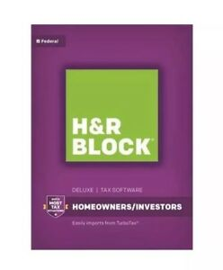 H&R BLOCK Deluxe Federal Tax Software 2016 Homeowners/Investors NIB FACTORY-SEAL