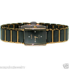 RADO Jubile DIASTAR Ladies Ceramic Gold Plated Titanium Diamond Watch Pre-Owned
