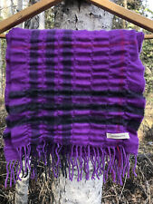 Burberry Vertical Quilted Scarf Bright Violet Merino Wool Cashmere
