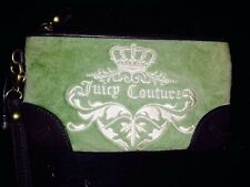 JUICY COUTURE PREPPY ROYALTY WRISTLET PURSE Pink And Brown