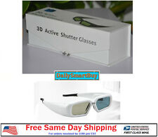 Active Shutter 3D Glasses Acer/BenQ/Sony/Optoma/Dell DLP Link Projector  - White
