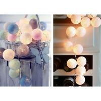 Quality 3M 20 LED Cotton Ball LED String Christmas Wedding Party Fairy Lights