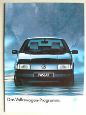 Prospekt Volkswagen VW Programm - Polo bis Scirocco GTX 16V, 4.1988, 20 Seiten
