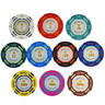 25 Texas Clay Poker Casino Game Chips Set 14g Colour Crown Monte Carlo Play Chip