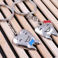 Lovers' Gifts Couple's Key Chain Tooth Shaped Key Fob Key Chain Key Ring