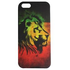 Rasta Iphone 5 I phone 5 Lion Of Judah Rastafari Lion Hard Shell Case Skin IRIE