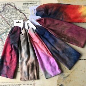 Women Fashion 7cm Wide Tie Dye Yoga Headband stretch 6 Colours