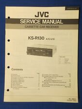 JVC KS-R130 Car Audio Cassette Service Manual Factory Original The Real Thing
