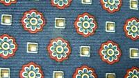 BROOKS BROTHERS DARK BLUE RED FLOWER SQUARE MADE IN USA SILK NECKTIE TIE HJA0619